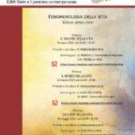 Seminario Fenomenologia della vita – PUL